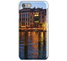 Venetian Impressions - Blue Hour Along the Grand Canal  iPhone Case/Skin