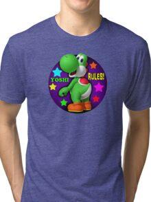 Yoshi Rules! Tri-blend T-Shirt