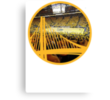 Golden State Warriors Oracle Arena Color Canvas Print