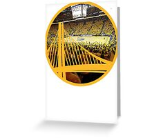 Golden State Warriors Oracle Arena Color Greeting Card