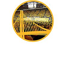 Golden State Warriors Oracle Arena Color Photographic Print