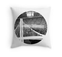 Golden State Warriors Oracle Arena Black and White Throw Pillow