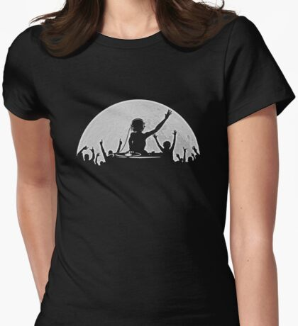Full Moon Party Womens Fitted T-Shirt
