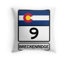 CO-9 Breckenridge Colorado Throw Pillow
