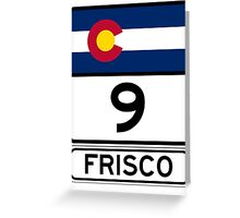CO-9 Frisco Colorado Greeting Card