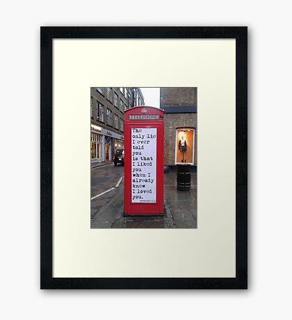 Lie (poetry) Framed Print