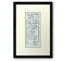 chloroform bis Framed Print