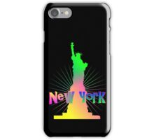 Colorful Rainbow Glow New York American Statue Of Liberty iPhone Case/Skin