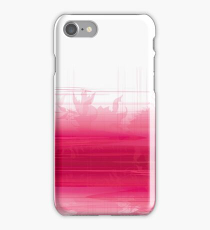Pink gradient background in watercolor style. Red and white tie-dye effect card. Abstract backdrop with imitation of brush flow. Glamour fashion banner. iPhone Case/Skin