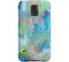 Samsung  Galaxy S5 case - Blue Yellow Abstract Samsung Galaxy Case/Skin