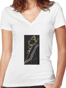 Cloud Strife Final Fantasy Women's Fitted V-Neck T-Shirt