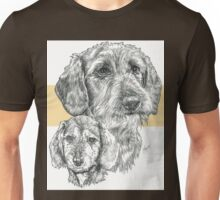 Dachshund, wire-haired, Father & Son Unisex T-Shirt