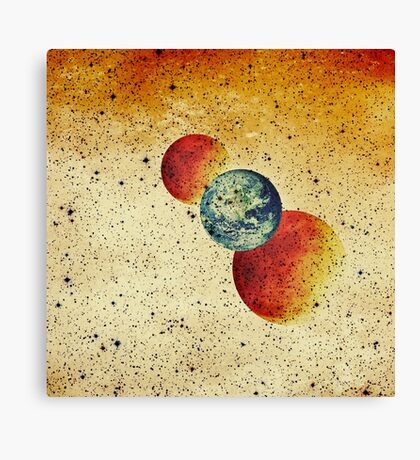 Take me to the moons and back Canvas Print