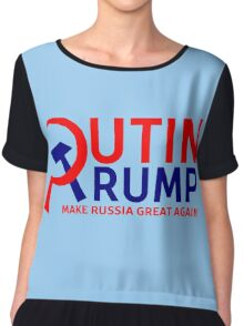 Putin Trump Make Russia Great Again Chiffon Top