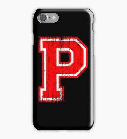 Big Red Letter P iPhone Case/Skin