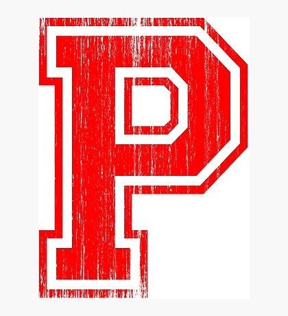 Big Red Letter P Photographic Print