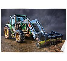 John Deer Tractor Poster