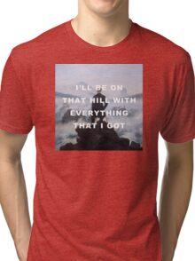 Wanderer above the Darkness on the Edge of Town Tri-blend T-Shirt