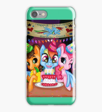Happy BirthAversary Dashie!! iPhone Case/Skin