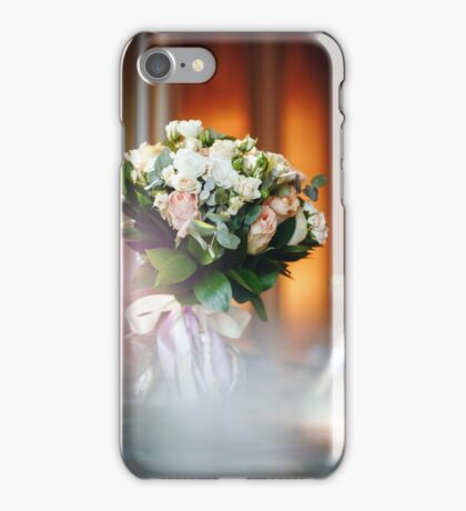 Luxurious Bouquet with White and Cream Roses iPhone Case/Skin