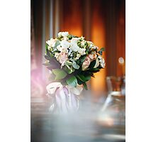 Luxurious Bouquet with White and Cream Roses Photographic Print