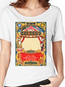 Circus Carnival Invite Poster Women's Relaxed Fit T-Shirt