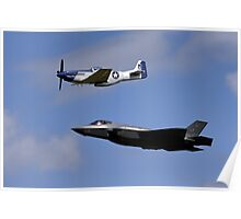 US Air Force Heritage Flight Poster