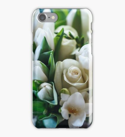 Fresh Spring Bouquet of White Roses and Tulip  iPhone Case/Skin