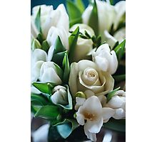 Fresh Spring Bouquet of White Roses and Tulip  Photographic Print
