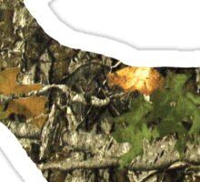 Camouflage Deer Hunting Logo Sticker