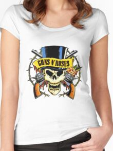 guns n roses Women's Fitted Scoop T-Shirt