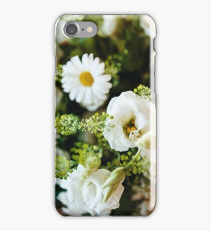 Fresh Bouquet of White Roses and Chamomile  iPhone Case/Skin