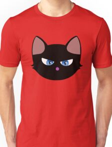 Angry Kitty Black Unisex T-Shirt