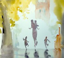 Family Running by LordOtter