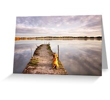 Jetty with a view Greeting Card