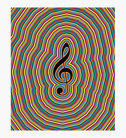 MUSIC WAVES (G-Note) Photographic Print
