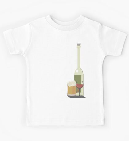 Wine Beer Alcohol Kids Tee