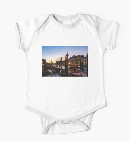 Venetian Impressions - Grand Canal Framed by Signature Paline One Piece - Short Sleeve