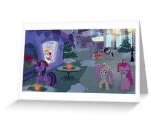 Christmas in Canterlot Greeting Card