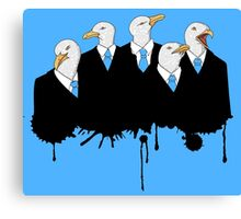 Seagulls in suits Canvas Print