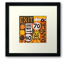 Sign Board Framed Print
