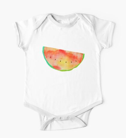 Watercolor Fruits and Vegetables One Piece - Short Sleeve