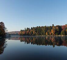 Lakeside Cottage Living - Peaceful Morning Mirror by Georgia Mizuleva
