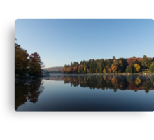 Lakeside Cottage Living - Peaceful Morning Mirror Canvas Print