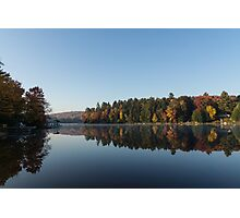 Lakeside Cottage Living - Peaceful Morning Mirror Photographic Print