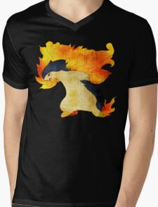 Typhlosion- The Volcano Pokemon Mens V-Neck T-Shirt