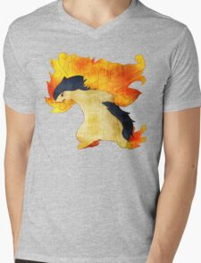 Typhlosion- The Volcano Pokemon Mens V-Neck T-Shirt