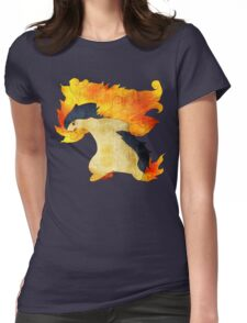 Typhlosion- The Volcano Pokemon Womens Fitted T-Shirt