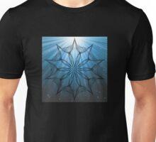 Kaleidoscope with blue water rays Unisex T-Shirt