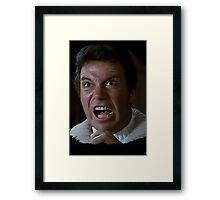 William Shatner Captain Kirk / Khan digital painting Framed Print